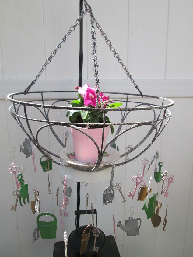 s 22 clever wind chimes you can make, Potted Hanging Wind Chime