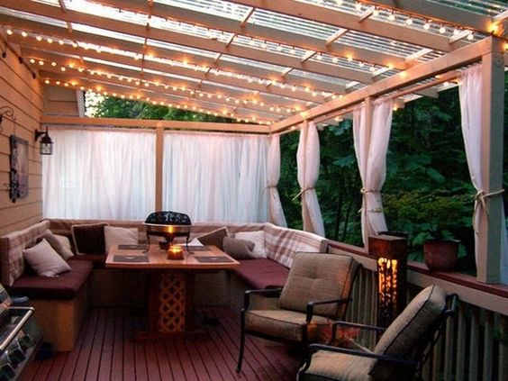 q what s the best least expensive way to create privacy for your deck