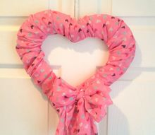 diy valentine s day scarf wreath all with dollar store items