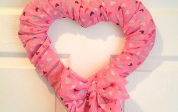 DIY Valentine's Day Scarf Wreath - All With Dollar Store Items!