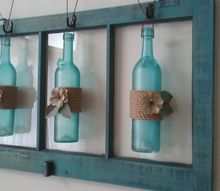 wine bottle old window wall art