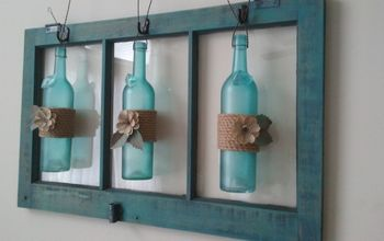 Wine Bottle/Old Window WALL ART