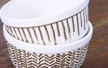 diy gold sharpie ramekin dishes