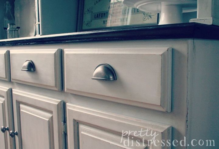 hutch makeover with chalk paint