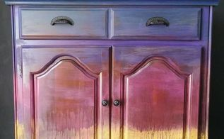 hand painted furniture inspired by the sunrise