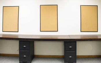 How to Build a Large Built-in Desk for Under $75
