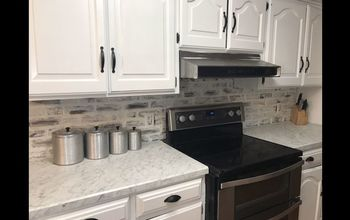 Faux Brick Backsplash