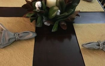 how to make a magnolia leaf and cotton candle ring in a jiffy