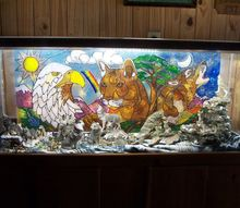 a stained glass picture finds a home