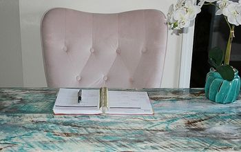 turn two pieces of pine wood into a beautiful desk