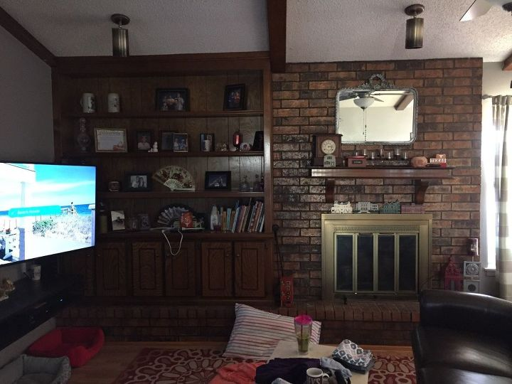 q what is the easiest way to give a fireplace a white washed look