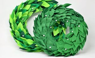 felt wreath tutorial