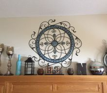 metal wall hanging gets an easy dollar store fix