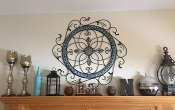 Metal Wall Art/Hanging Gets an Easy Dollar Store Fix!