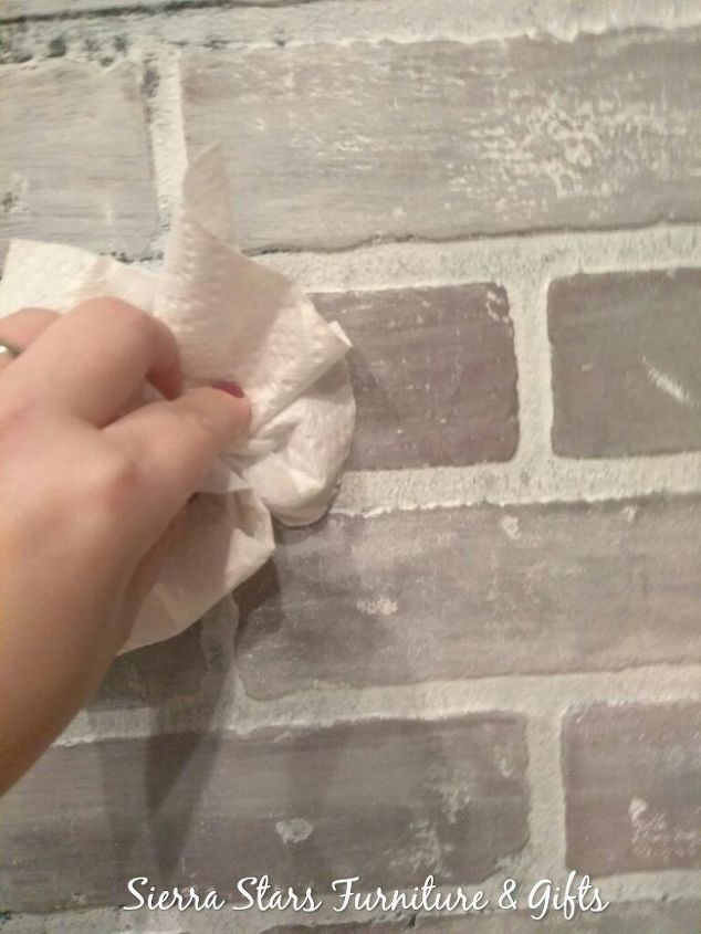 want to update your brick wall or faux brick wall here is how in th
