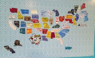 wall art challenge us map