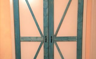 faux barn doors