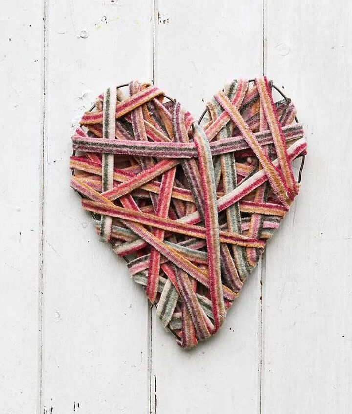 s 23 valentine s day diy ideas that you don t want to miss, Recycled Sweater Valentines Decoration