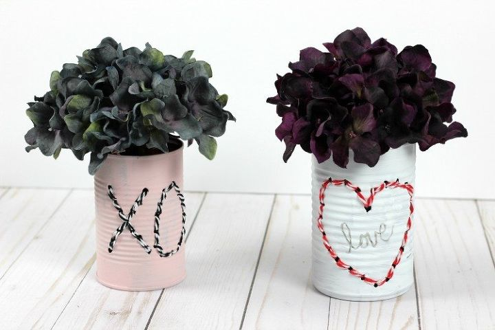 s 23 valentine s day diy ideas that you don t want to miss, Stitch a Can for Valentine s Day