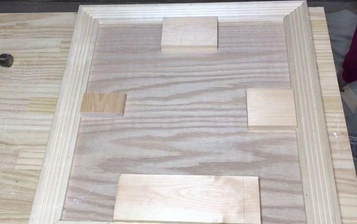 constructing barn door cabinet doors