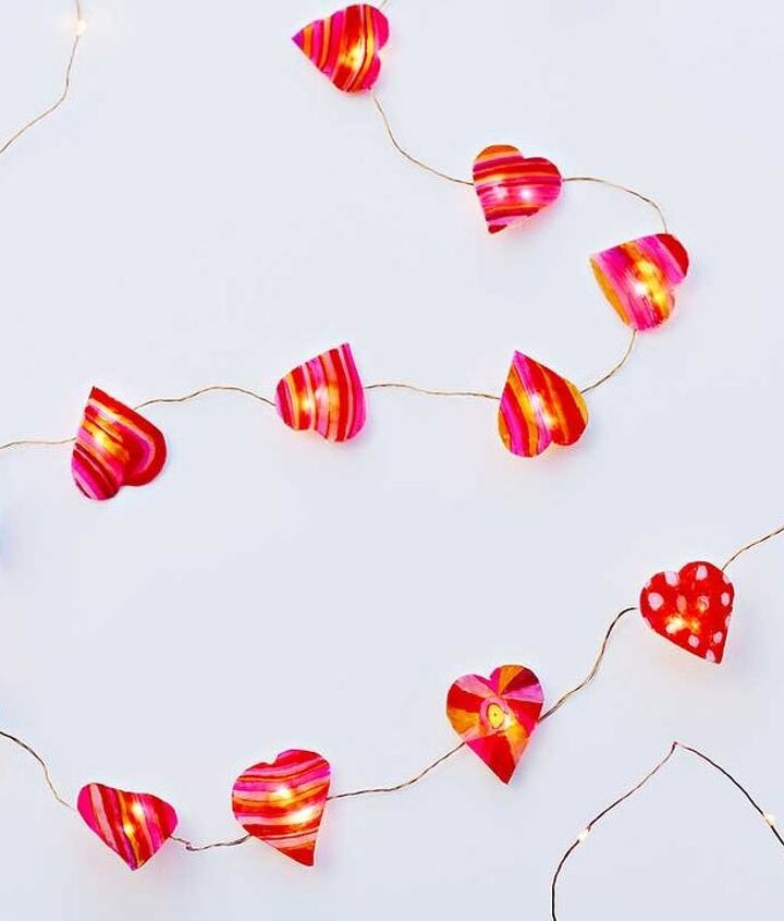 s 23 valentine s day diy ideas that you don t want to miss, Heart Shaped Fairy Lights