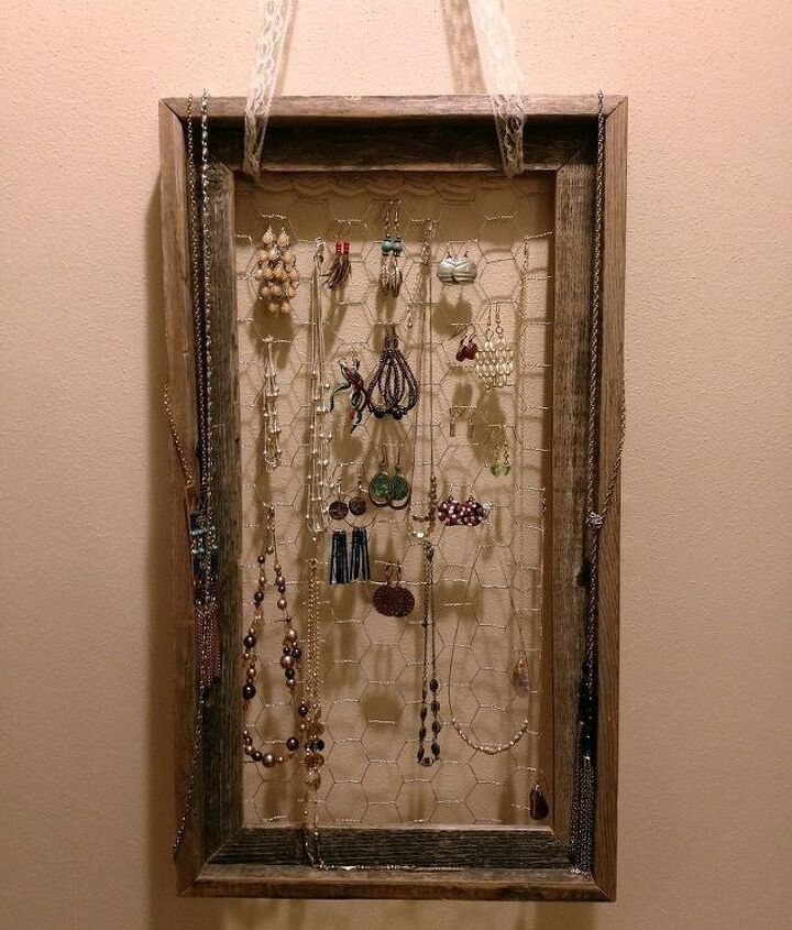 old frame to functional wall art