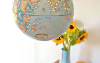 How to Make a Pendant Light From a $10 Thrift Store Globe