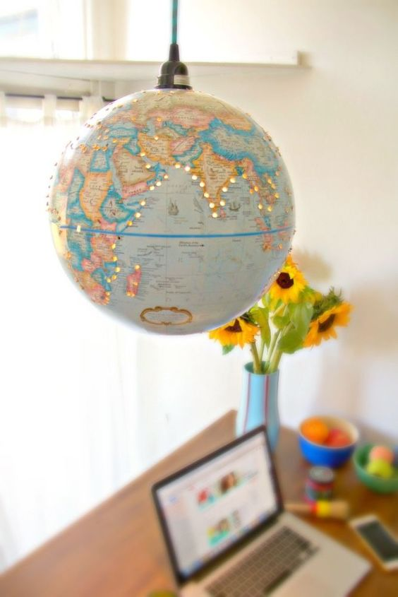 how to make a pendant light from a 10 thrift store globe