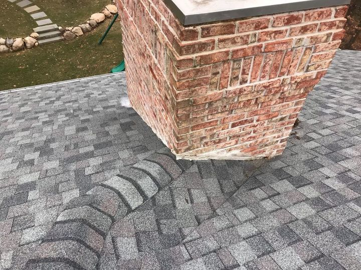 q new construction home has no flashing on chimney