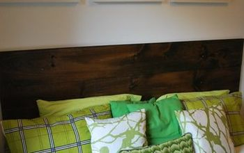 how to make an easy diy wooden headboard
