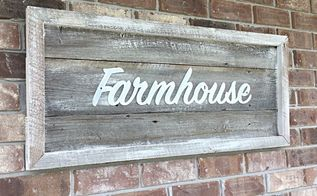 farmhouse rustic sign with reclaimed barn wood