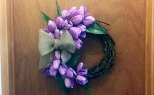 fast easy spring tulip wreath