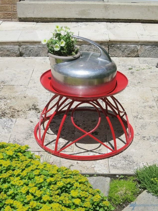 fire pit upcycle from a curb side find