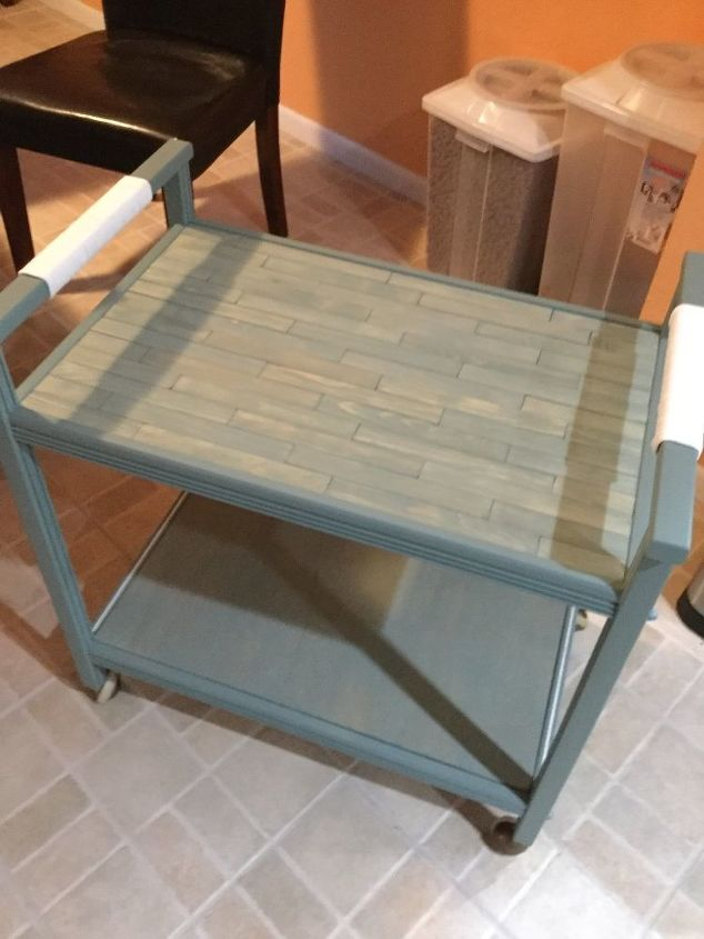 s 15 amazing things you can do with paint stirrers, Stunning Cart Makeover