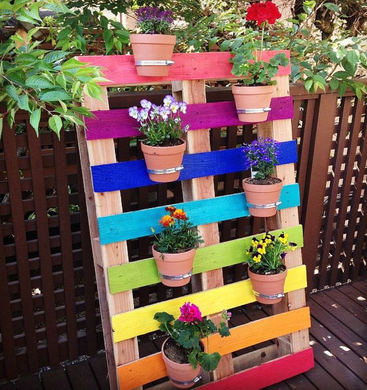 s live life in color with these amazing ideas for your home, Upcycled Pallet Garden