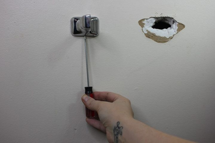 how to cover a hole with a farmhouse toilet paper holder 2 lumber
