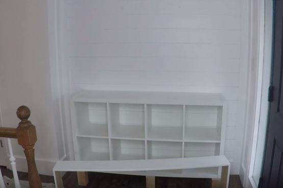 ikea hack organizing a budget console for entry and home