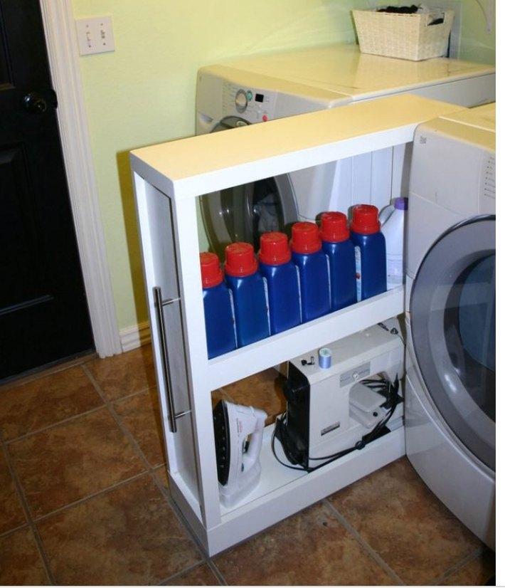 q storage in between washer dryer