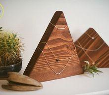 geometric necklace display
