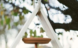 diy geometric bird feeder