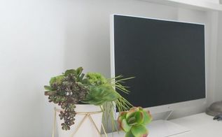 turn your desk pens into this diy succulent display