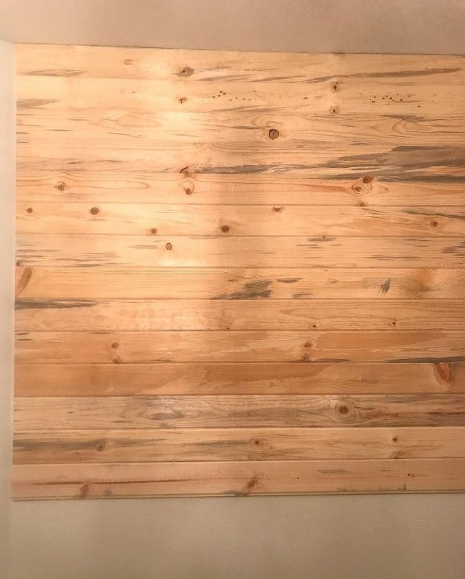 diy whitewashed plank wall
