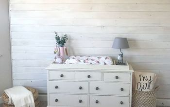 DIY Whitewash Plank Wall
