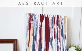americana diy abstract art