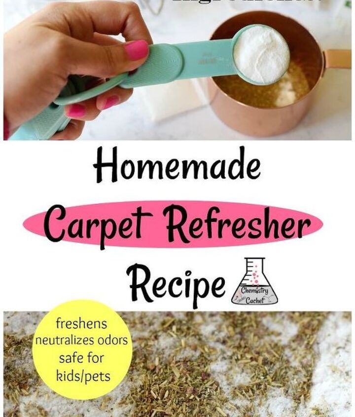 two ingredient homemade carpet refresher recipe