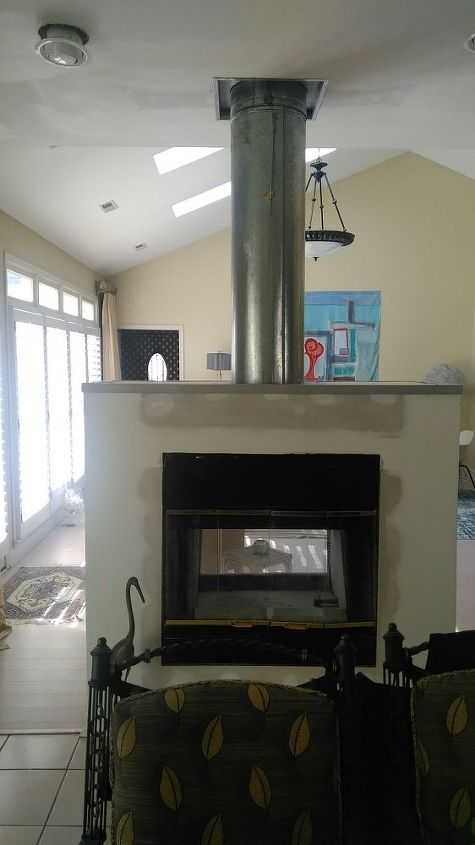 Paint exposed fireplace flue hometalk - What temperature can you paint outside ...