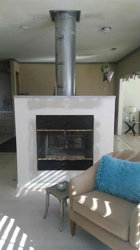 q paint exposed fireplace flue