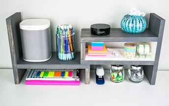 give your desk top extra storage space