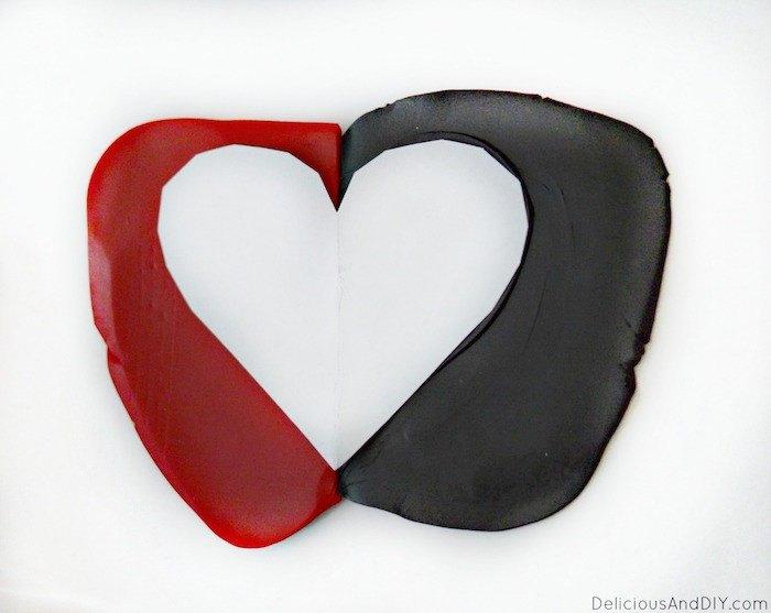 diy heart clay ring dish