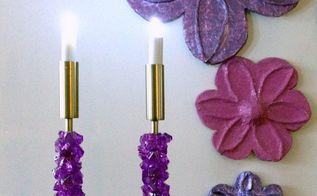 thrift store candlesticks makeover
